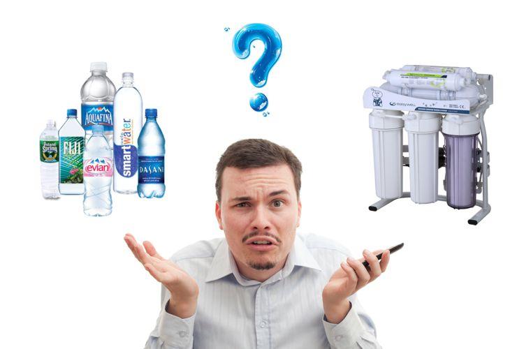 مقایسه آب معدنی با دستگاه تصفیه آب