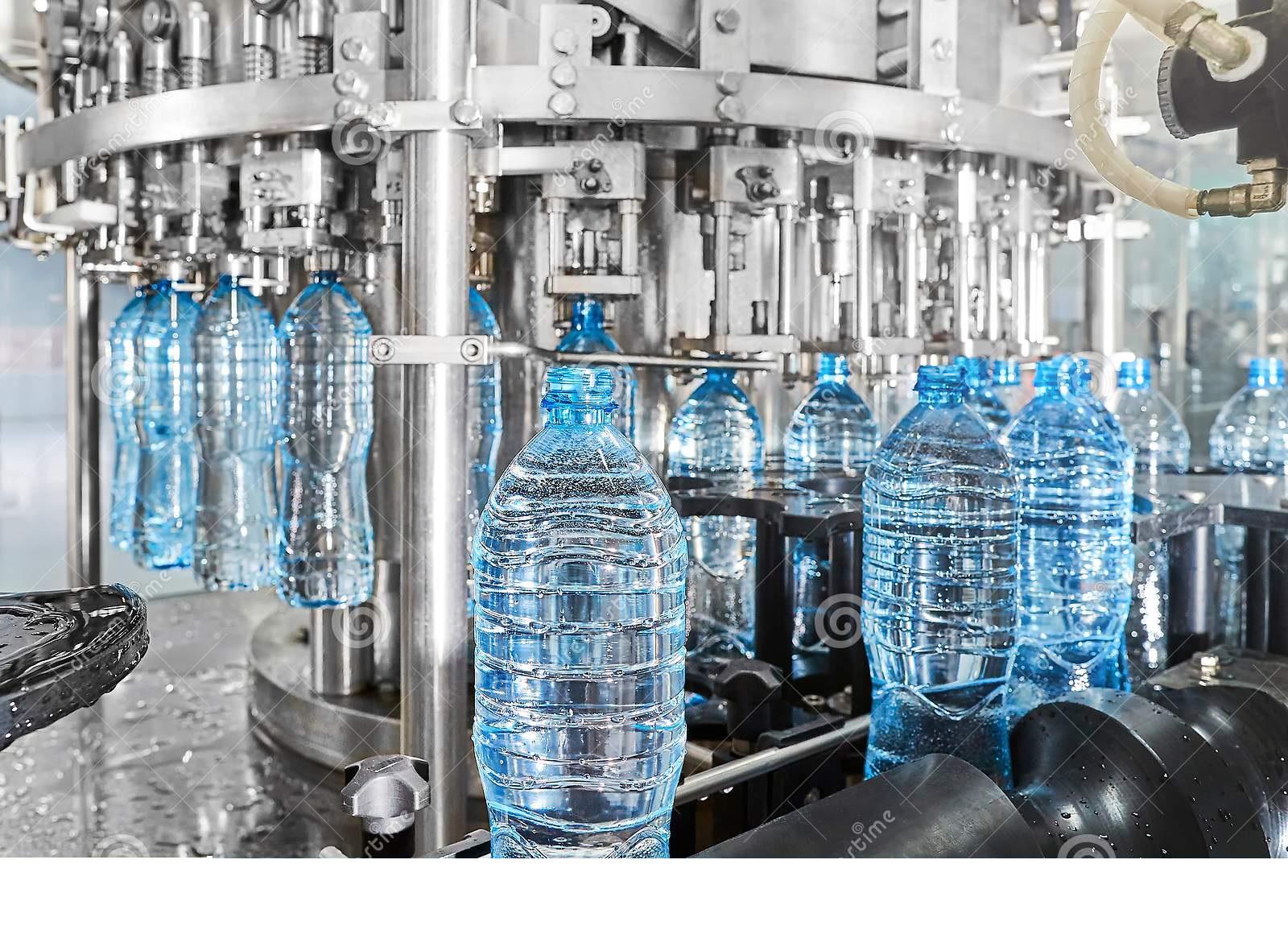 نیمه پنهان بطری های آب معدنی